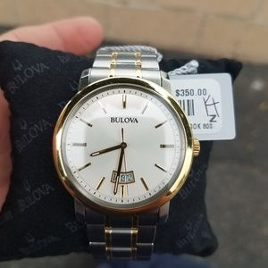 Like New Mens Bulova Stainless Two Tone